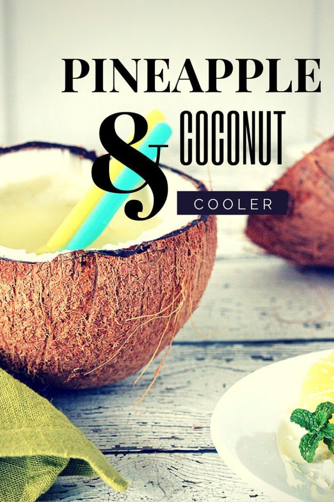 Refreshing Pineapple and Coconut Cocktail loaded with fresh coconut, coconut water and juicy pineapple. Perfect summer cocktail recipe! Click for more drink recipes!