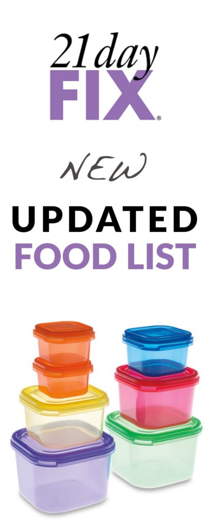 Updated 21 Day Fix Food List! Tons of new Latin foods have been added. Includes a 21 Day Fix Printable Food Guide! Print it out so you're ready to go come Day 1!