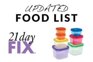 21 Day Fix Eating Plan – Updated Food List