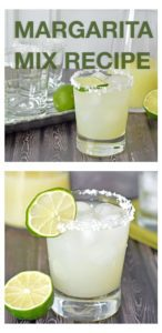 Homemade Margarita Mix Recipe with Classic Lime Margarita Recipe! Never buy store bought again. More happy hour drink recipes at FoodieandWine.com!