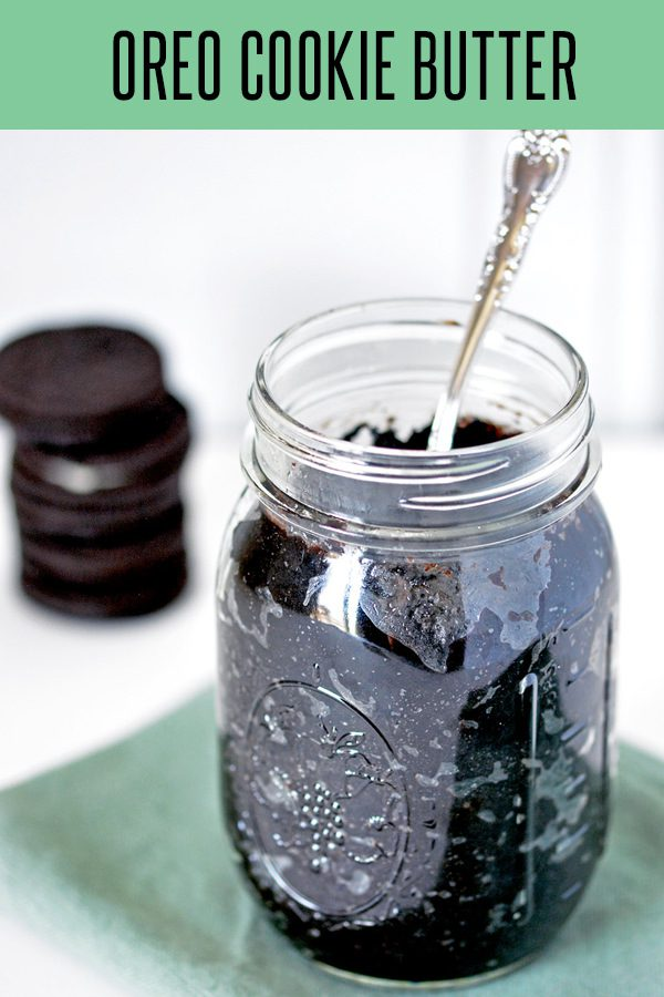 Delicious Oreo Cookie Butter Recipe! Perfect holiday gift idea or holiday appetizer recipe. Use this Cookie Butter Dessert Recipe as a crepe stuffing or pretzel dip. The possibilities are endless. #dessertrecipes #oreos #dessertideas