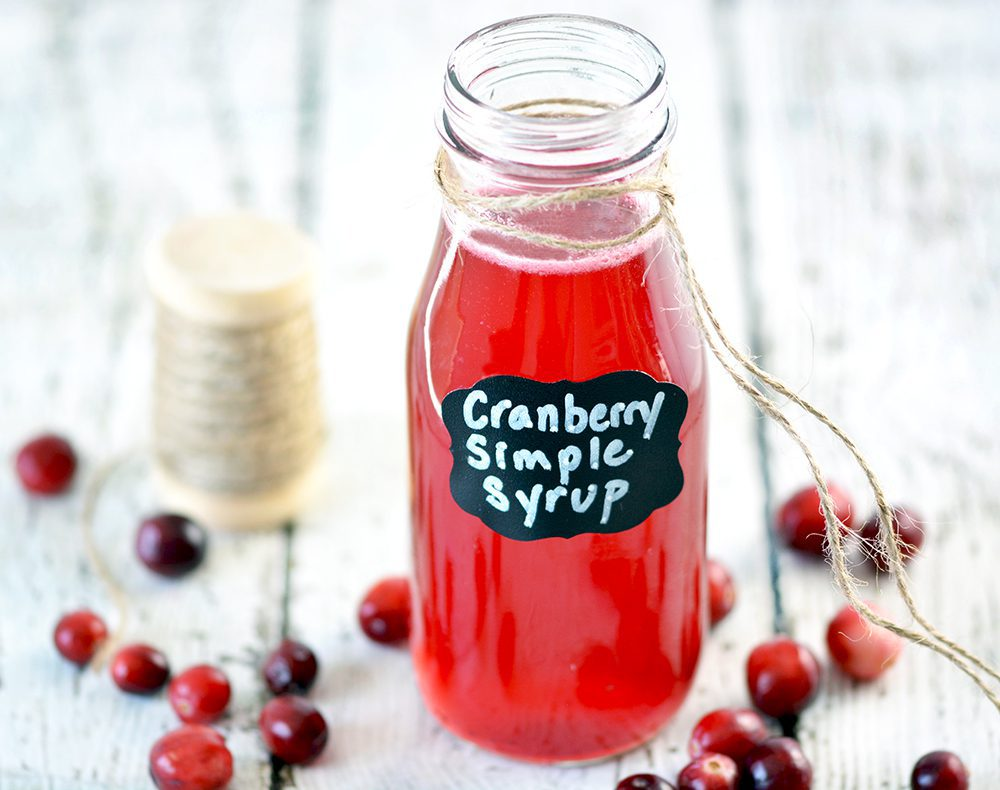 Easy Cranberry Simple Syrup - Foodie and Wine