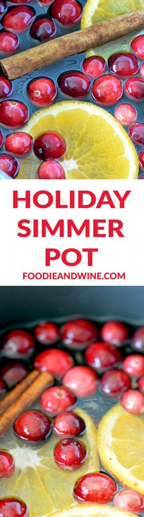 Deck the Halls with our homemade Christmas Simmer Pot Recipe! All the holiday scents you love, indoors. Pine, Citrus, Cinnamon, Cranberry and more.
