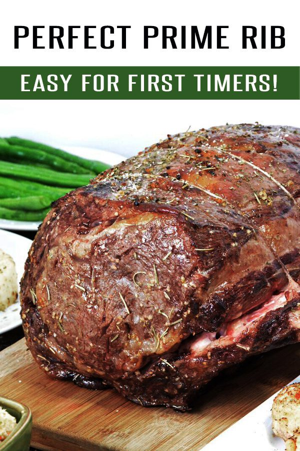 Easy Prime Rib Roast Recipe! 1,000s of 5-Star Reviews. Easy for beginners to master! This Prime Rib Recipe is loaded with garlic, herbs and flavor. Finish it off with Au Jus for an unforgettable meal. #primeribrecipes #roastrecipes #christmasrecipes #easterrecipes