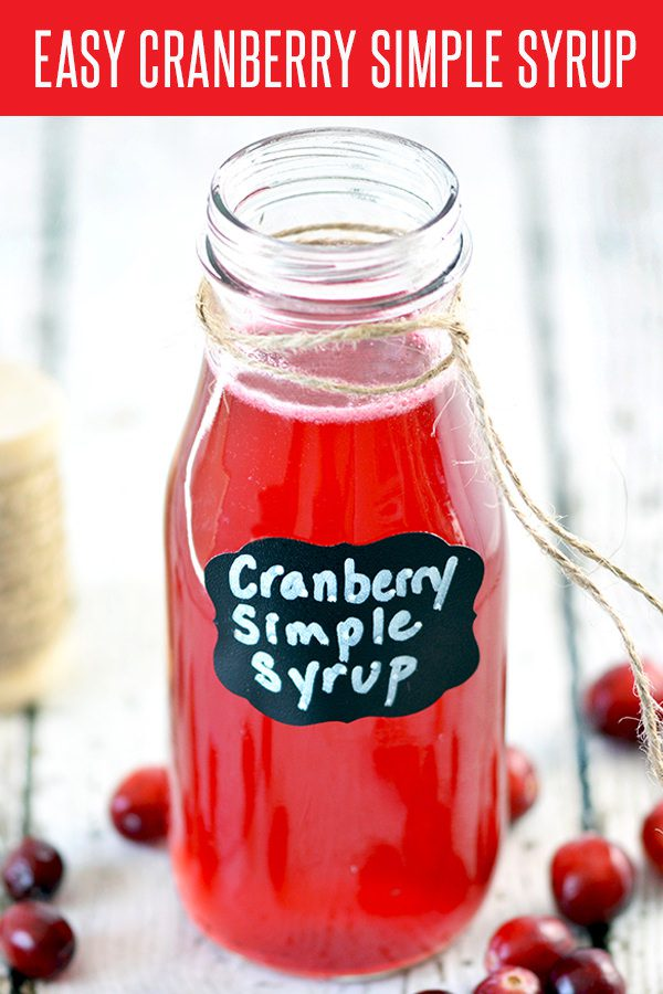 Deck the Halls with this Easy Cranberry Simple Syrup! Perfect for your holiday cocktails. This recipe is ready in less than 5 minutes! Can be adapted to your favorite fruit.