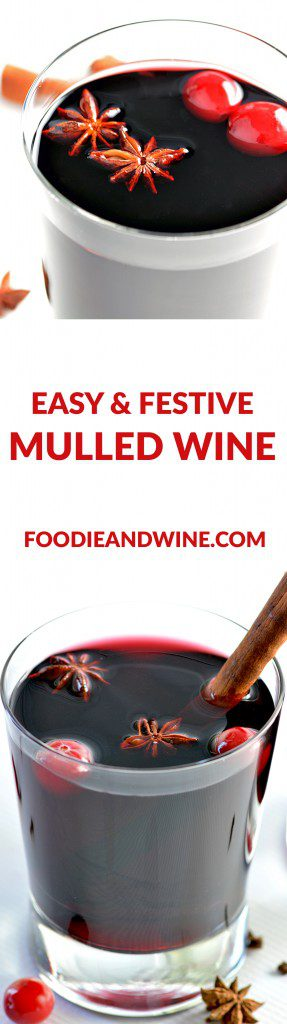 Quick and Easy Mulled Wine Recipe. This drink recipe is filled with red wine, cinnamon, honey and all your favorite winter spices. Ready in under 20 minutes!