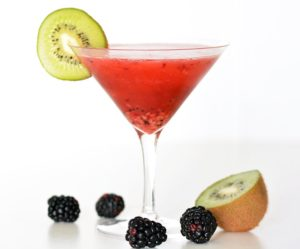 Kiwi and Blackberry Martini