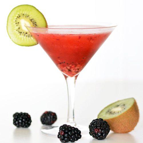 Kiwi and Blackberry Martini