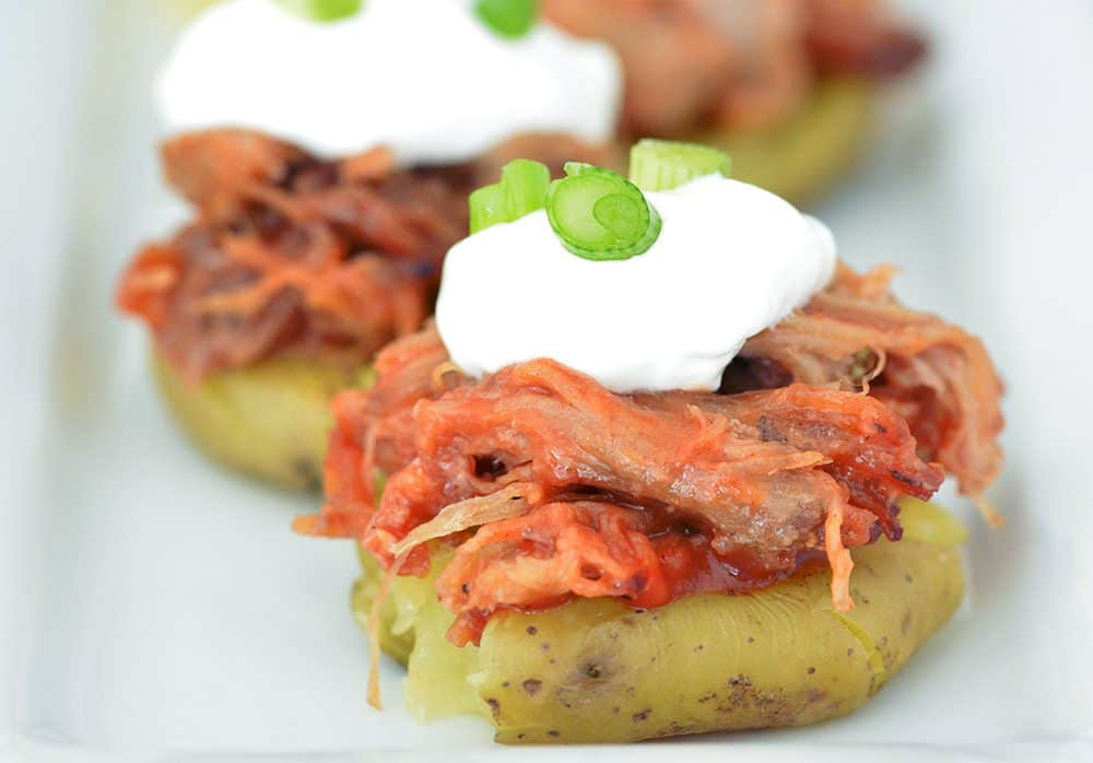 Potato skins - Pulled pork