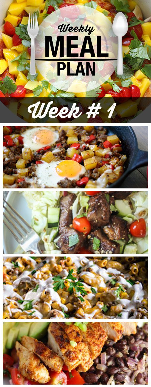 Easy Weekly Meal Plans - let us do the work for you! Menu Plans full of breakfast recipes, lunch recipes and dinner recipes the whole family will love. Click to see what we're cooking this week.