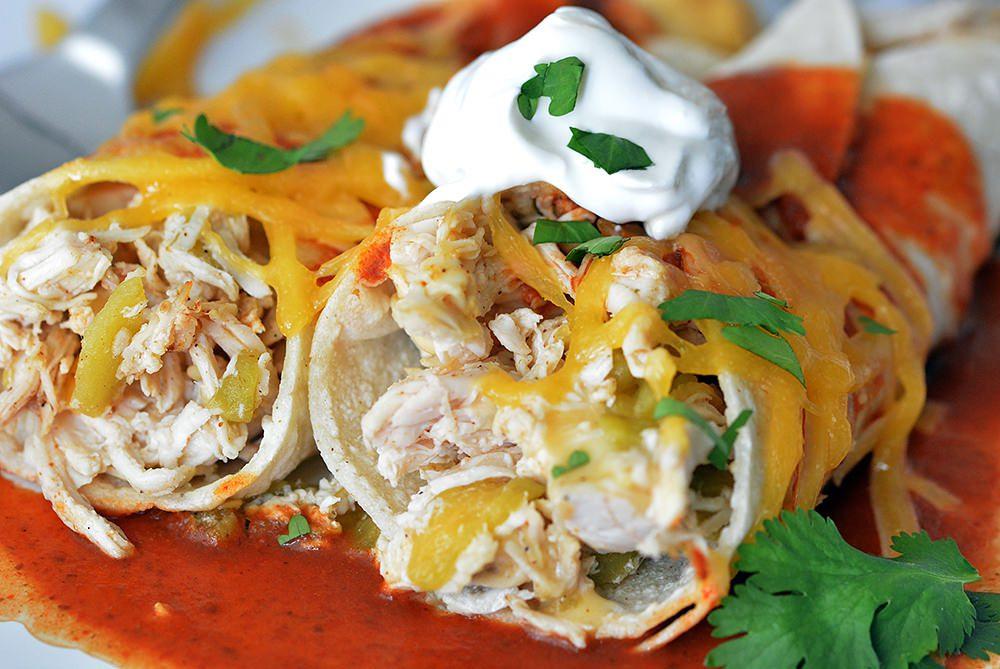 Chicken Enchilada - Mexican cuisine