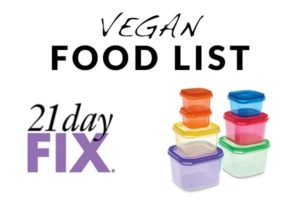 Beachbody 21 Day Fix – Vegan Eating Plan