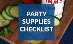 Party Supplies Checklist