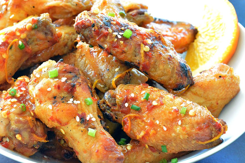 Spicy Orange Grilled Chicken Wings