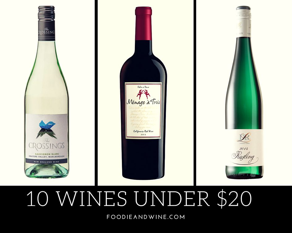 10 best cheap wines under 20 for Good but cheap wine