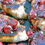 Pork Chops in Balsamic Cherry Sauce