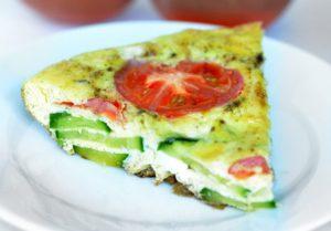 Frittata Recipe with Tomato and Zucchini
