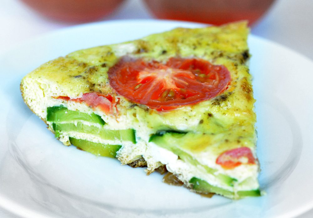 Frittata Recipe with Tomato and Zucchini