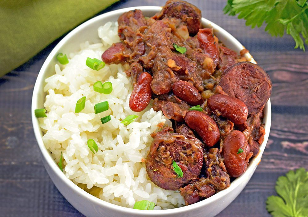Red beans and rice - Rice and beans