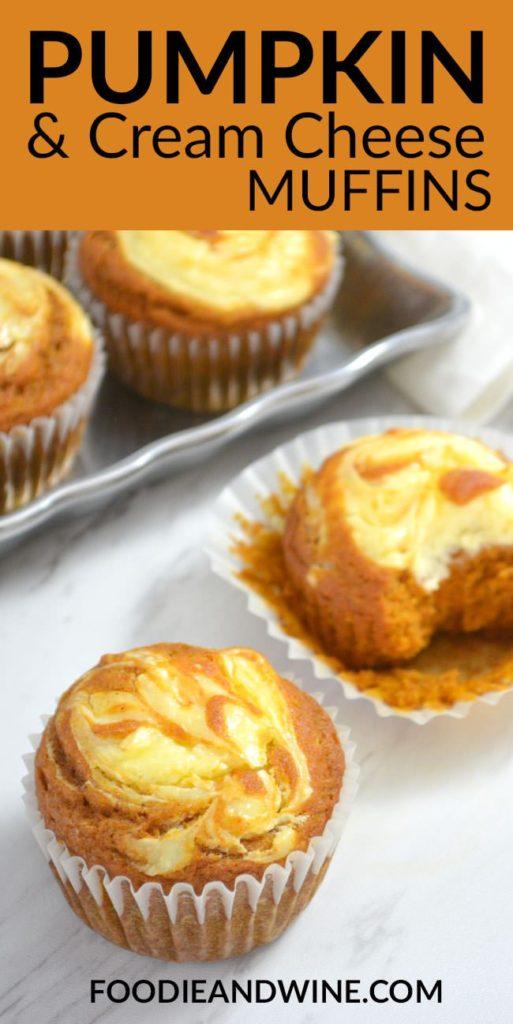 Pumpkin Cream Cheese Muffins - close up