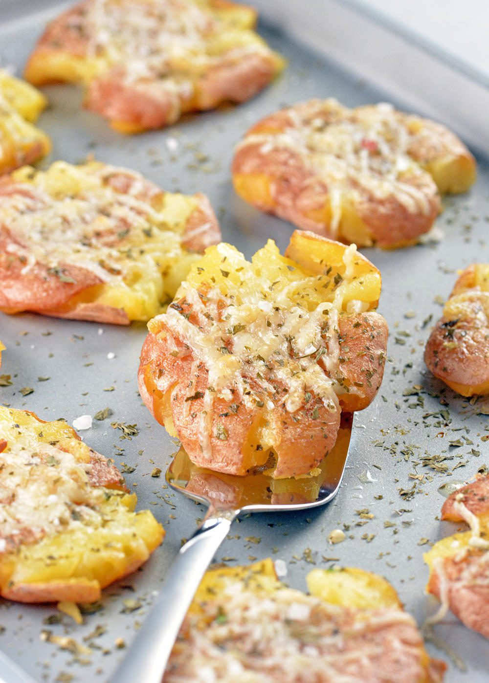 World's Best Buttery Herbed Smashed Potatoes