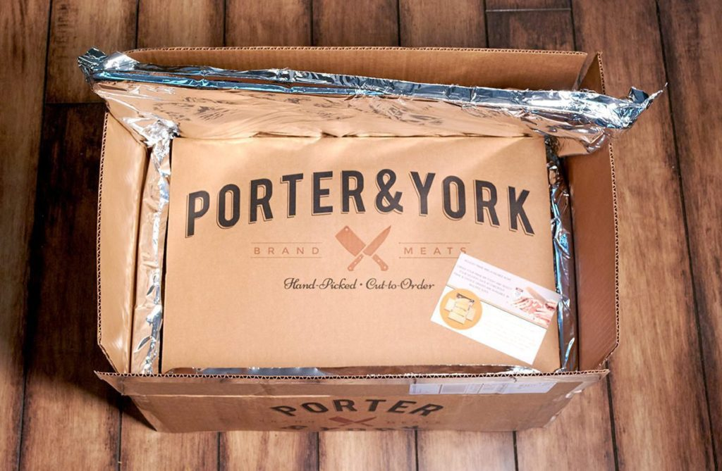 Photo of a Porter and York Shipping Box.