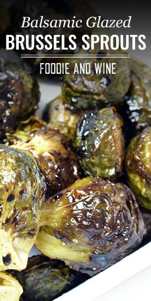 Pinterest picture of roasted Brussels sprouts.